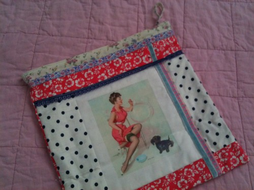 trousse,tissu,pin up,couture,recup